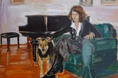 Portret z psem J. Lisak