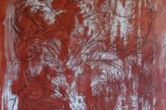 Czerwony ornament 90/70
